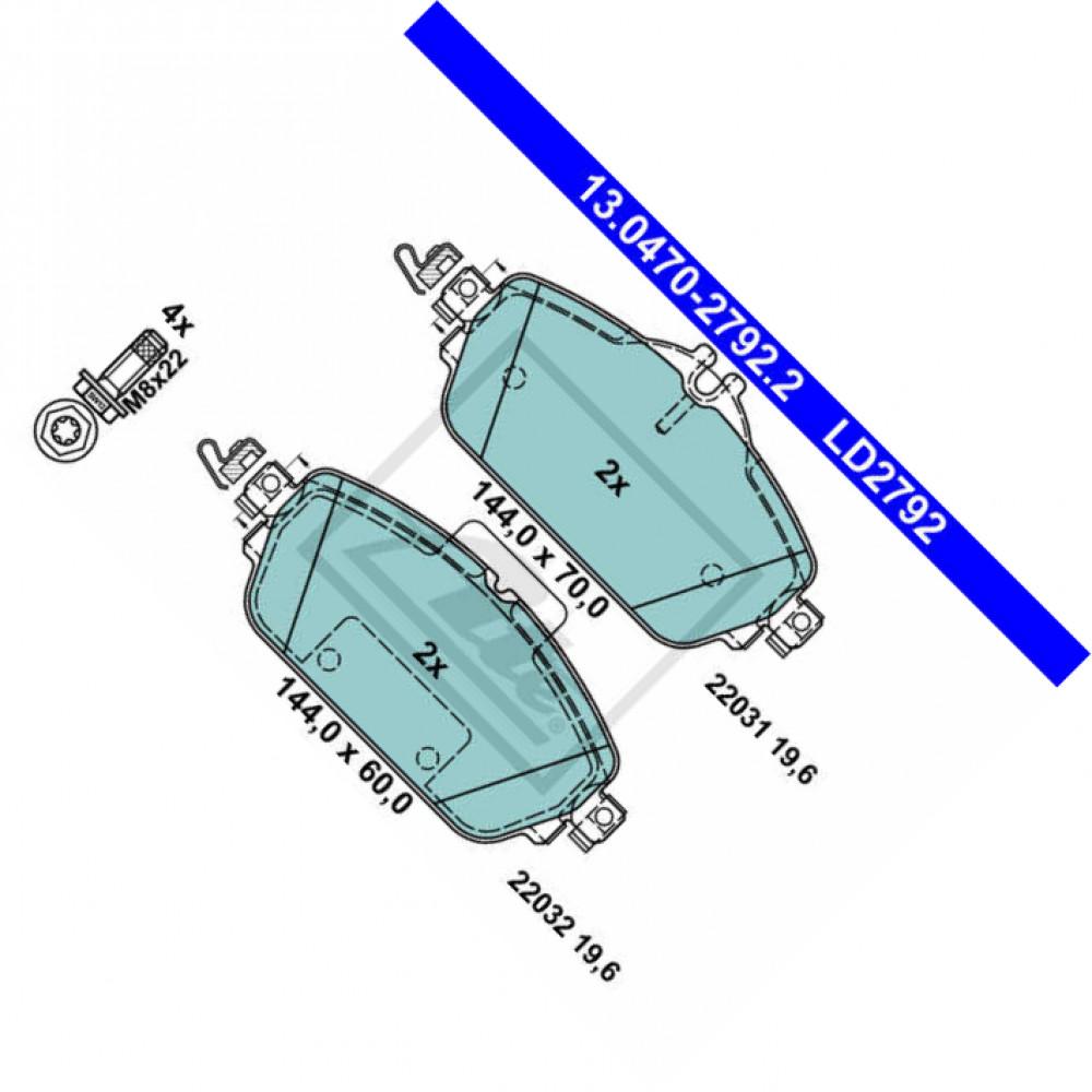 Bremsbelagsatz Scheibenbremse für Bremsanlage Vorderachse TRISCAN 8110 23078