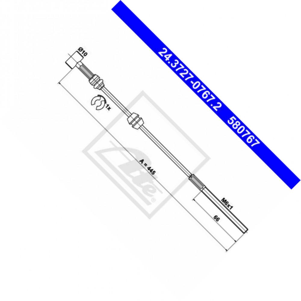 NK Bremsseil Seilzug Feststellbremse 9036159 vorne für OPEL COMBO Tour 1.3 CDTI